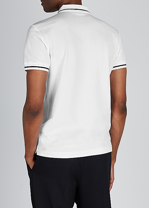 3a90d2a38 Dior Homme White piqué cotton polo shirt - Harvey Nichols