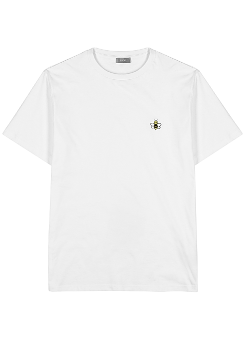 cacb73c5 Dior Homme X KAWS embroidered cotton T-shirt - Harvey Nichols