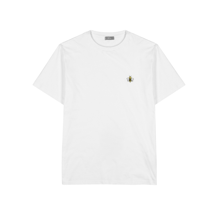 494b6298 Dior Homme X Kaws Embroidered Cotton T-Shirt In White | ModeSens