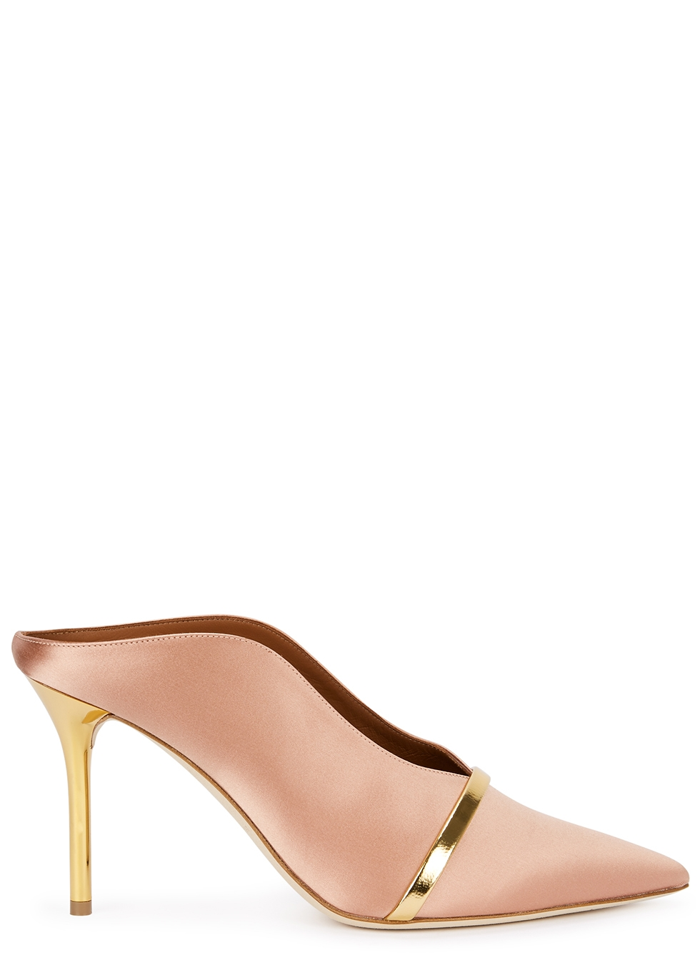 Constance 85 pink satin mules - Malone Souliers