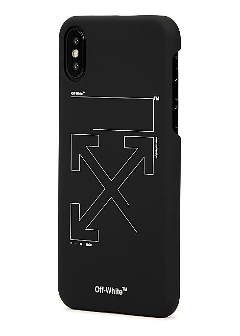 premium selection 5e153 58733 Off-White Unfinished Arrows matte black iPhone X case - Harvey Nichols