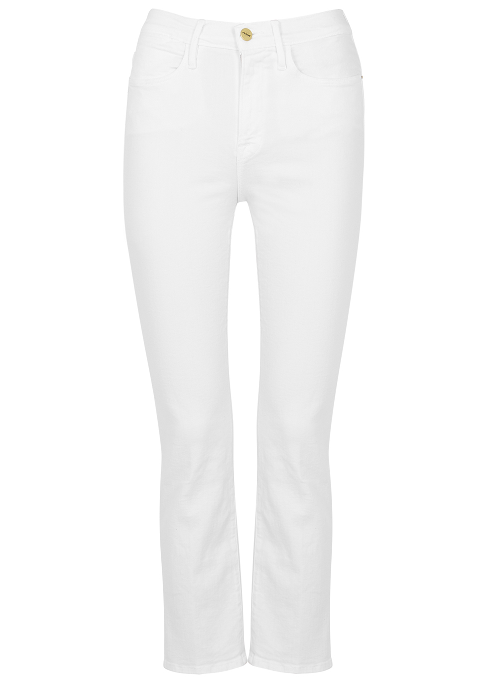 Le High Straight white jeans