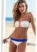 Hawaii zig zag bandeau bikini top off white - Valimare