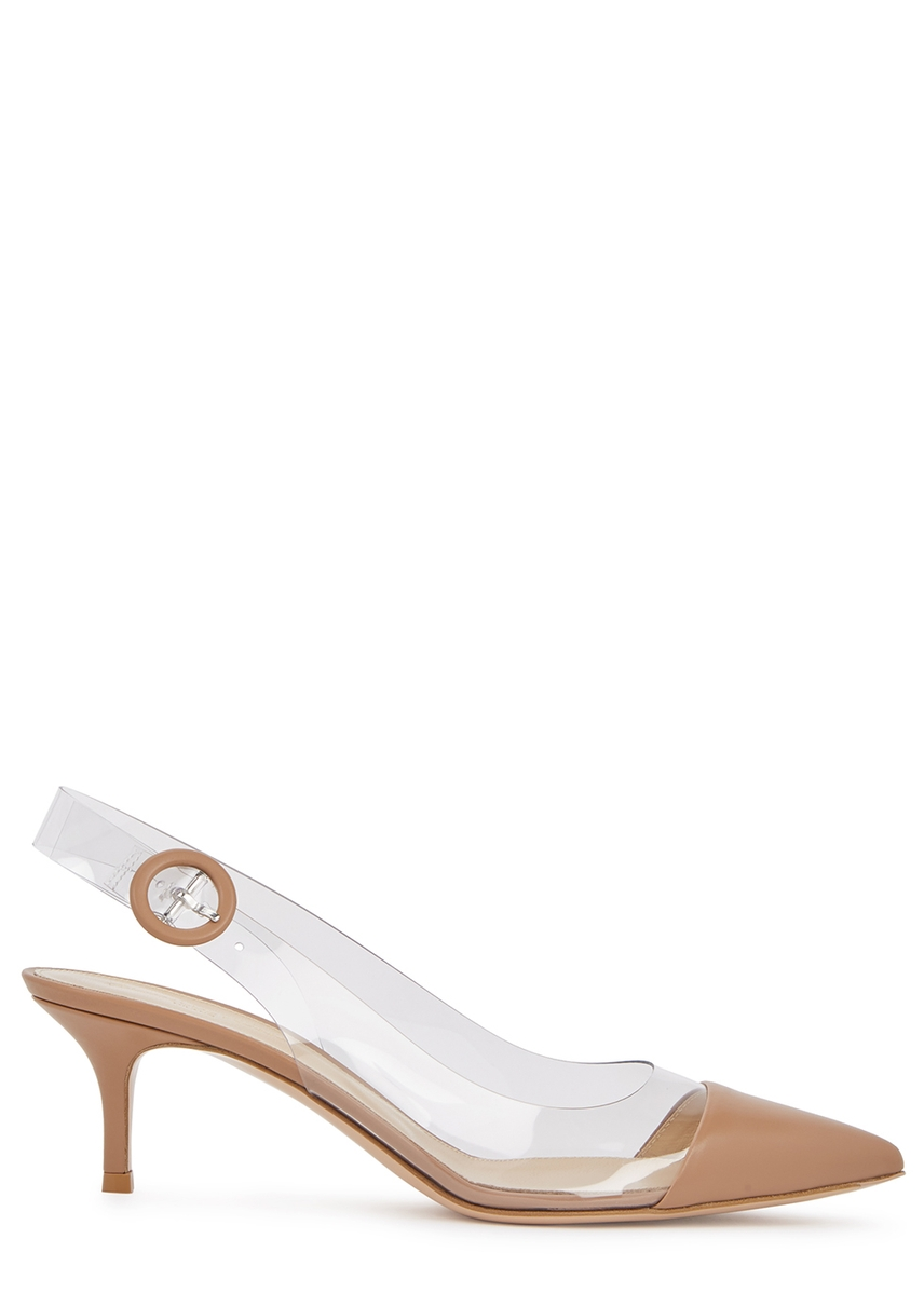 d65726d57eb5 Vitello Plexi 55 leather and perspex pumps ...