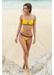 St barths colour block bikini top yellow - Valimare