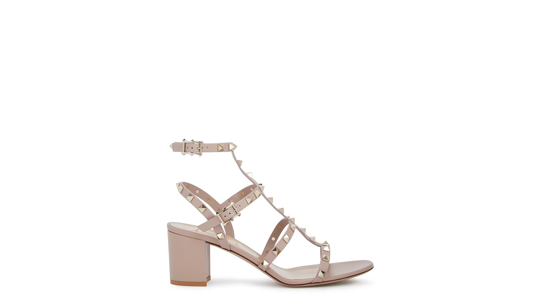 3efd6bc9e0a7 Valentino Garavani Rockstud 60 blush leather sandals - Harvey Nichols