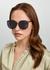 Cosmos black round-frame sunglasses - FOR ART'S SAKE