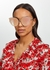 Viva oversized mirrored sunglasses - FOR ART'S SAKE