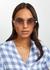 Love story rose gold-tone sunglasses - FOR ART'S SAKE