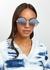 Love story silver-tone sunglasses - FOR ART'S SAKE