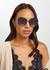 Wonderland oval-frame sunglasses - FOR ART'S SAKE