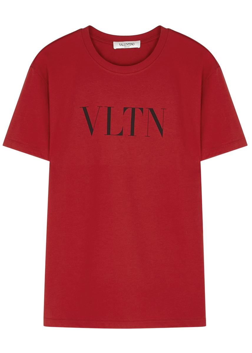 5296a7533 VLTN-print cotton T-shirt VLTN-print cotton T-shirt. New Season. Valentino