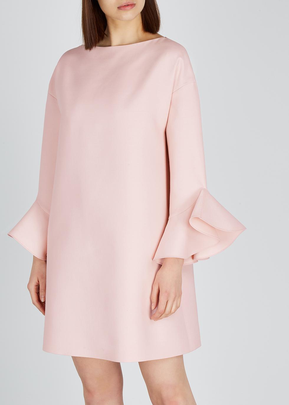 Light pink wool-blend shift dress - Valentino