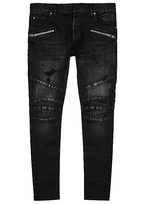 f29e236a505 Balmain Dark grey distressed skinny jeans - Harvey Nichols