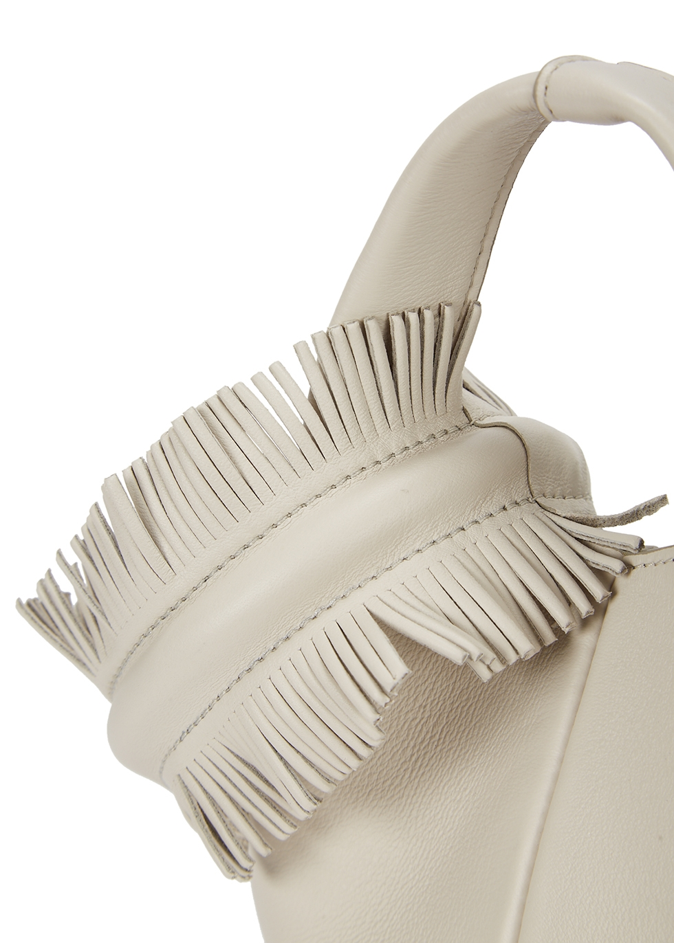 Petite V off-whitw leather clutch - Elena Ghisellini