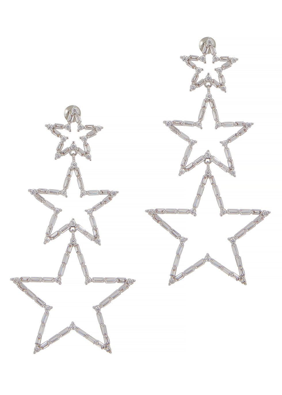Star crystal-embellished drop earrings - FALLON