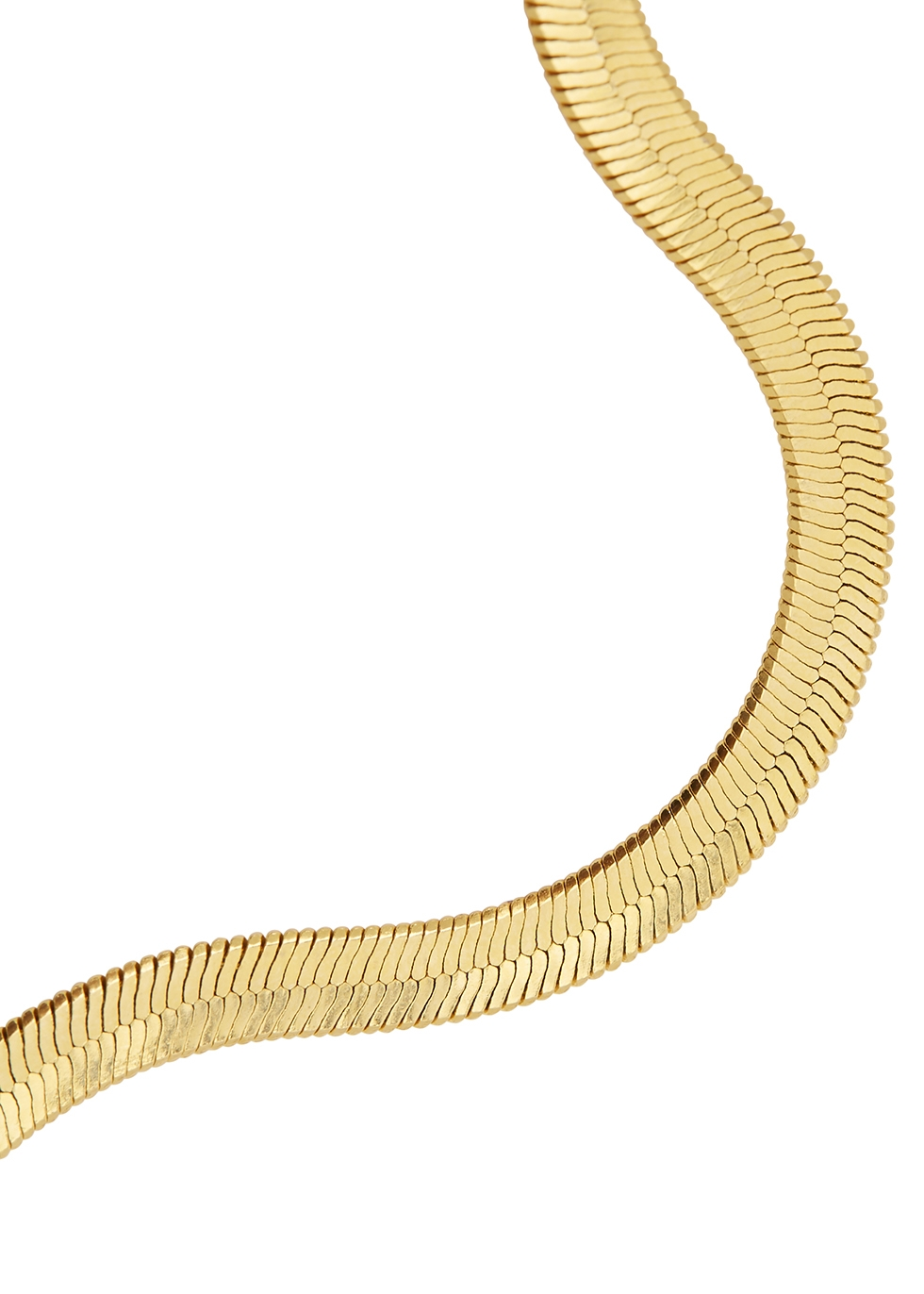 Liquid gold-plated chain necklace - FALLON