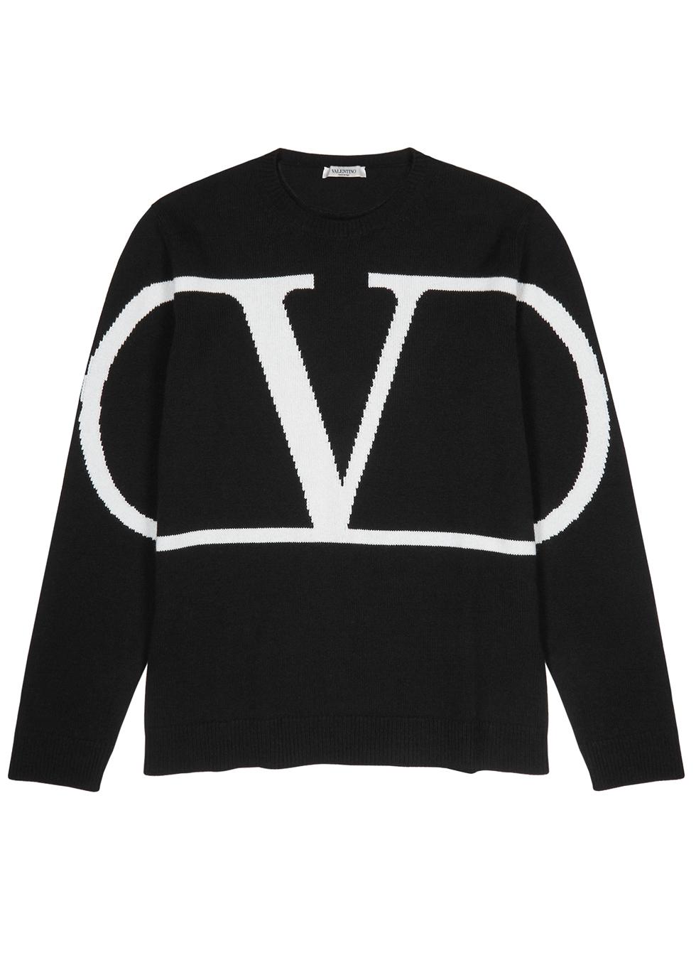 Black logo cashmere jumper - Valentino