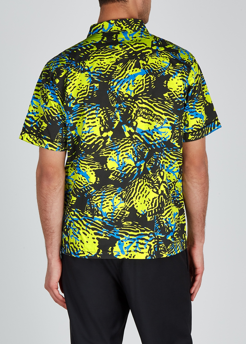 Fish Camo printed cotton shirt - Billionaire Boys Club