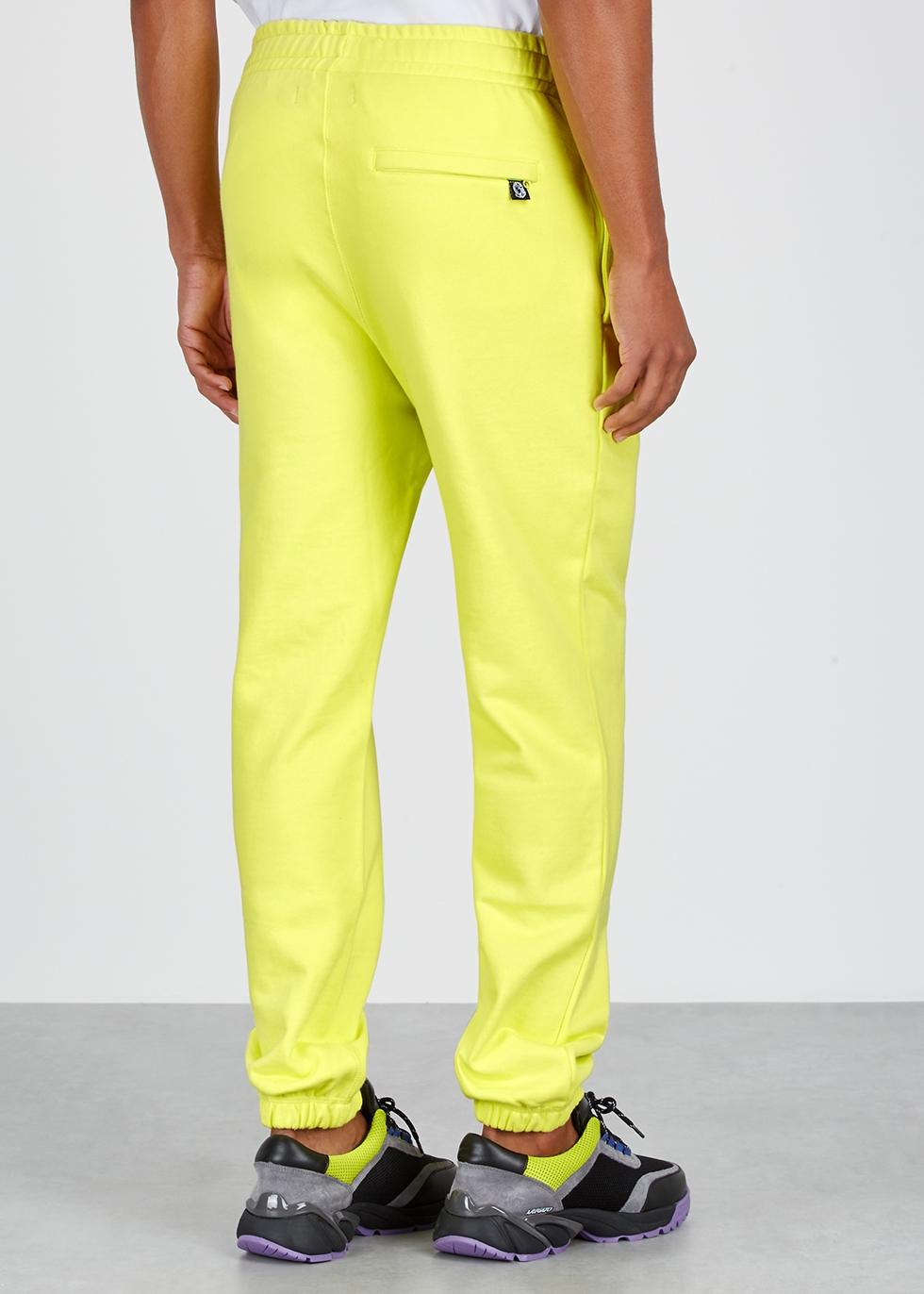 Lemon cotton-jersey sweatpants - Billionaire Boys Club
