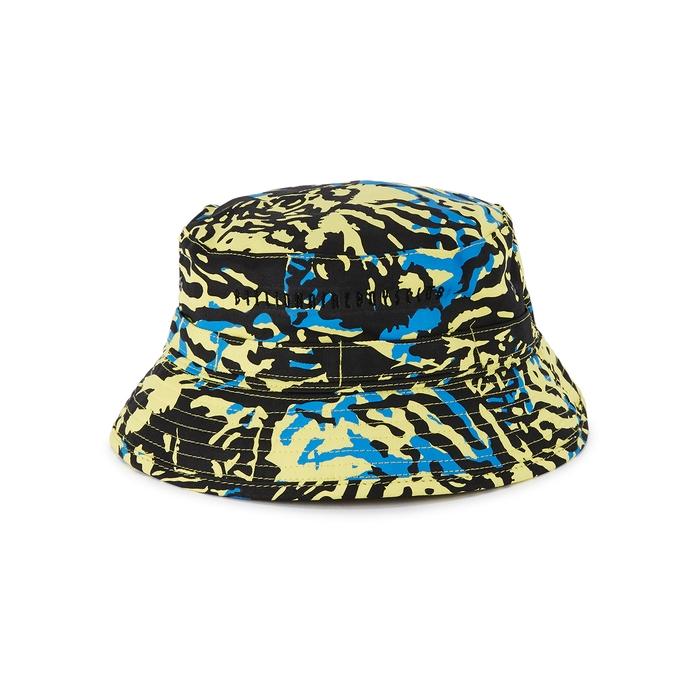 Billionaire Boys Club Hats YELLOW PRINTED COTTON TWILL BUCKET HAT