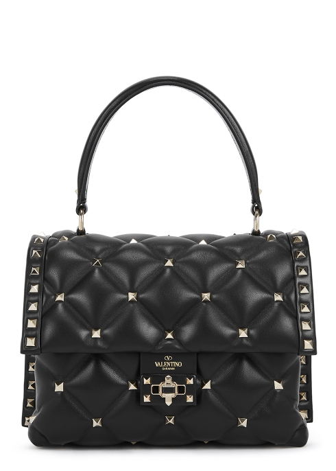 45b83af2bca4 Valentino Garavani Candystud black leather shoulder bag - Harvey Nichols