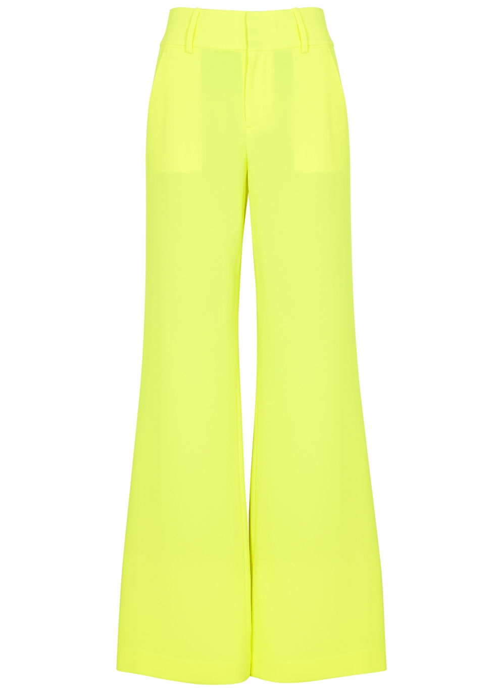 Paulette neon yellow trousers - Alice + Olivia