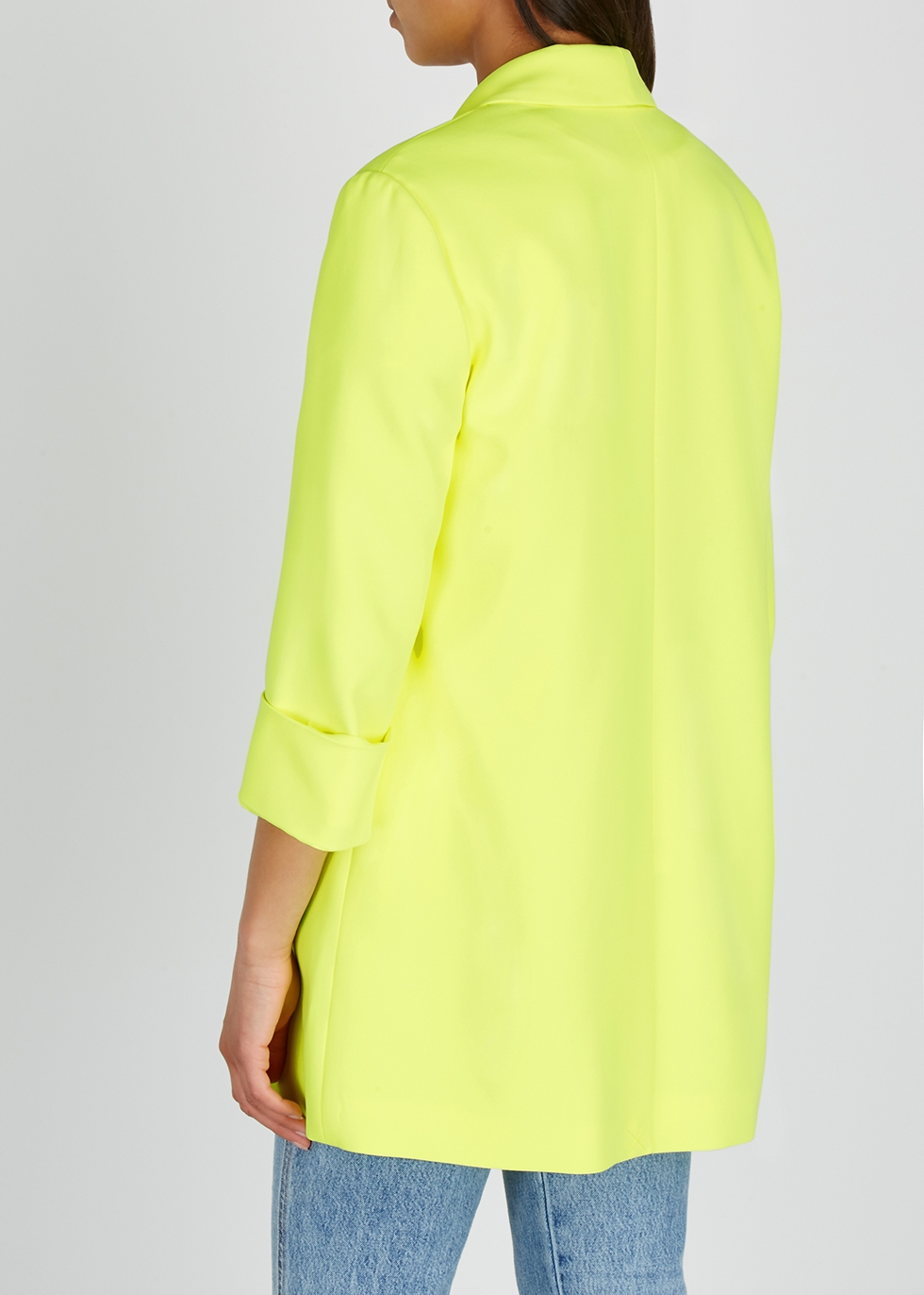 Angela neon yellow blazer - Alice + Olivia