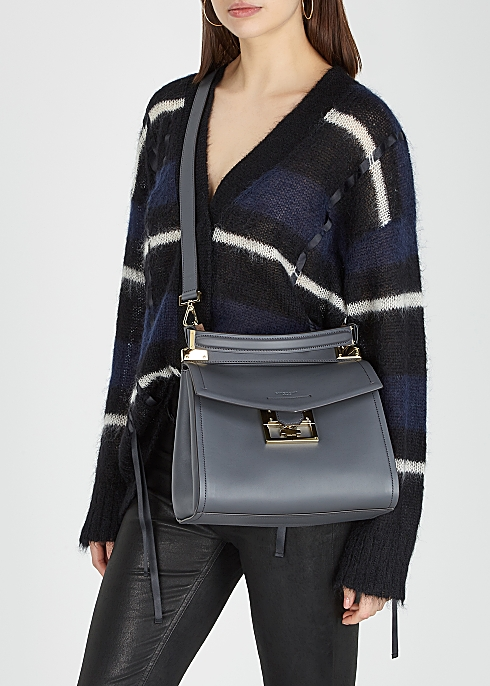 2b19aa45b3b Givenchy Mystic small grey leather top handle bag - Harvey Nichols