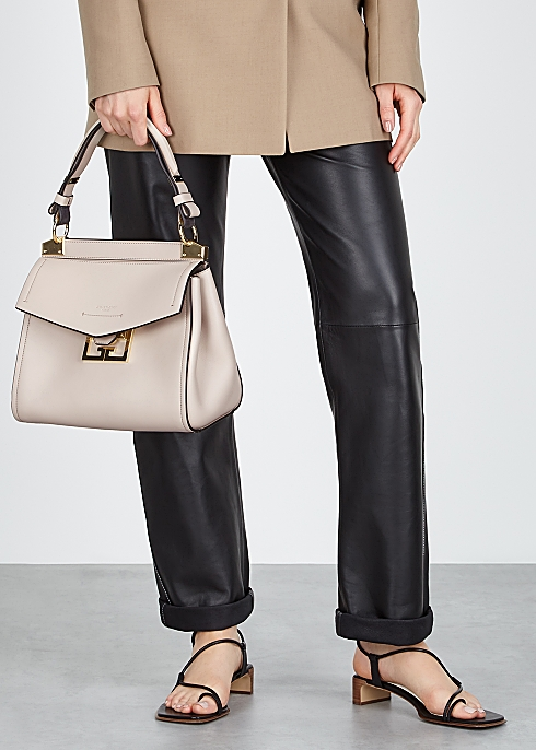 6c7b6d94bfd Givenchy Mystic small taupe leather top handle bag - Harvey Nichols
