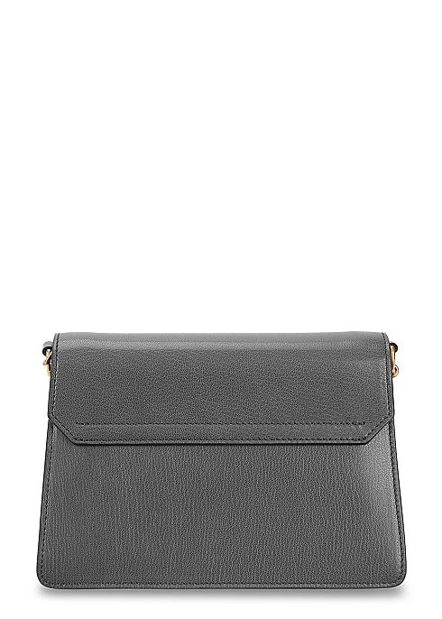 0b1e28b53d8 Givenchy GV3 grey grained leather shoulder bag - Harvey Nichols