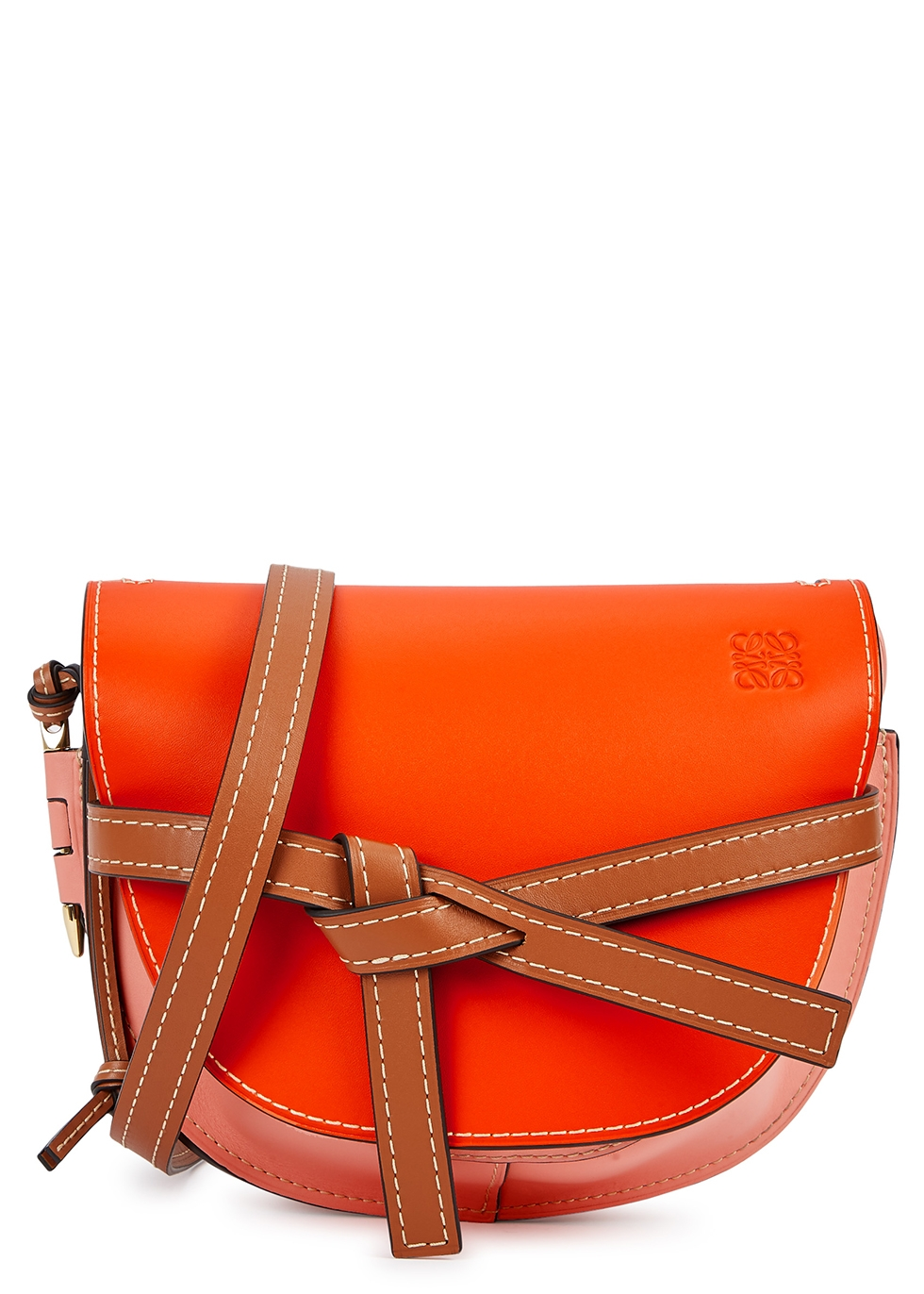 Gate small colour-block leather saddle bag - Loewe