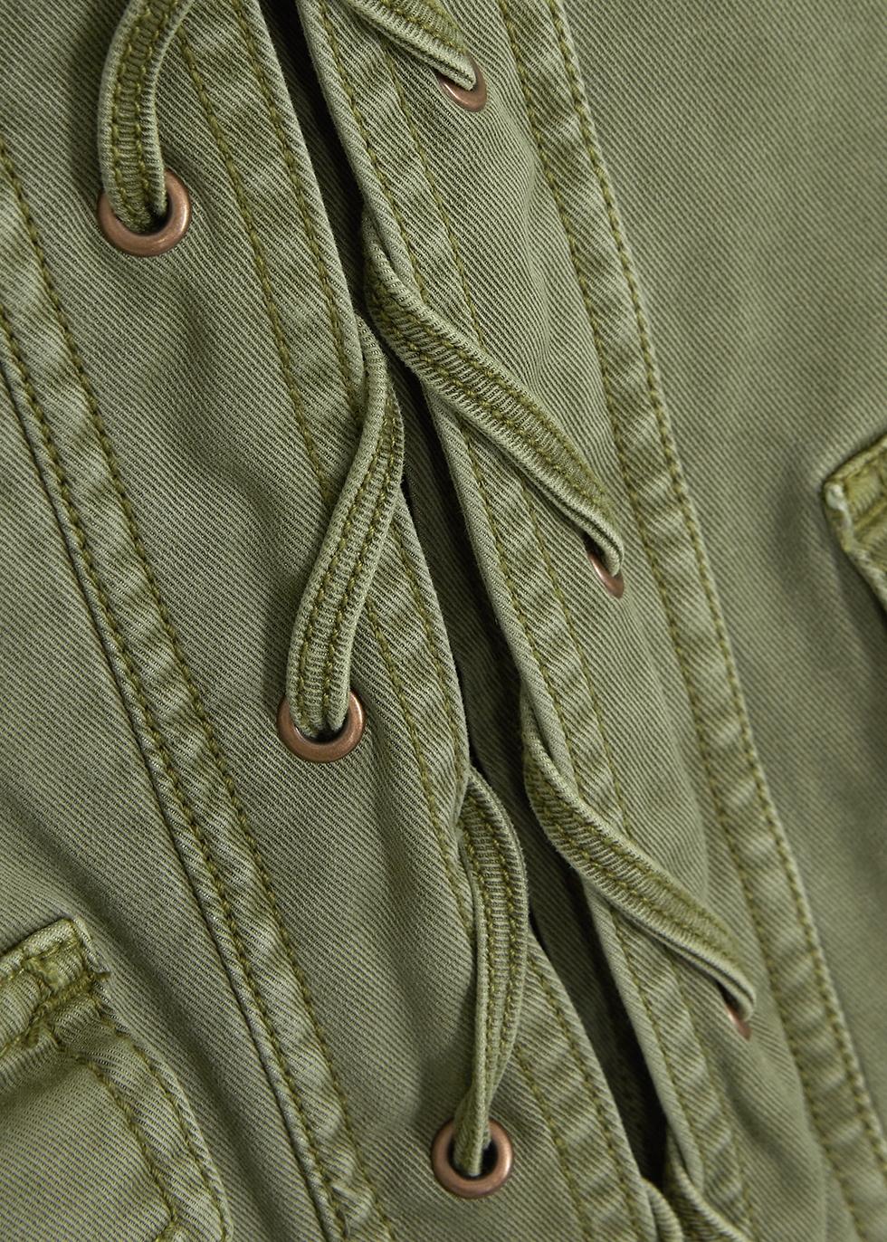 The Laced stretch-twill jacket - Current/Elliott