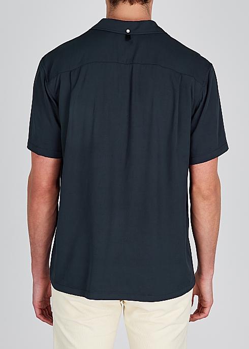3876f10a3 rag & bone Avery navy twill shirt - Harvey Nichols