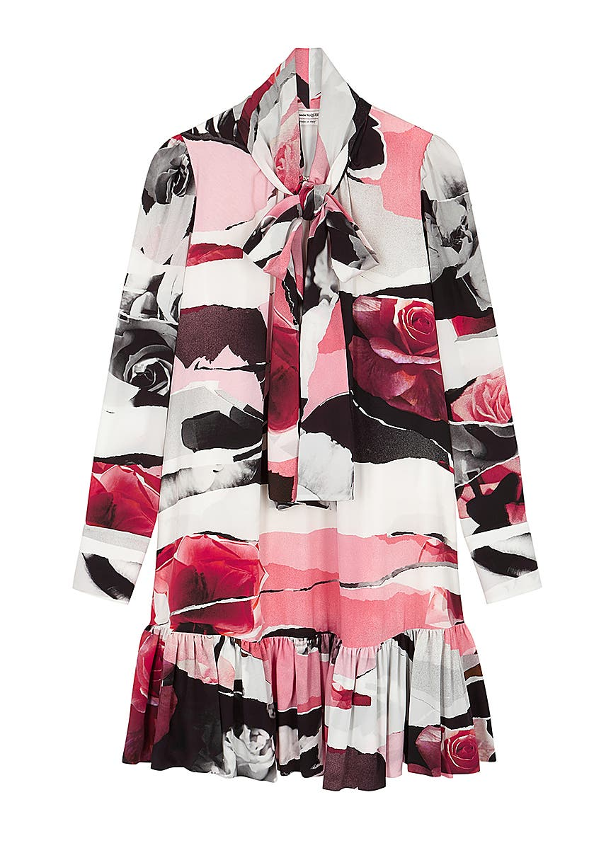 bcddf75b2e Alexander McQueen. Red crepe dress. £1,125.00 · Floral-print silk crepe de  chine dress ...
