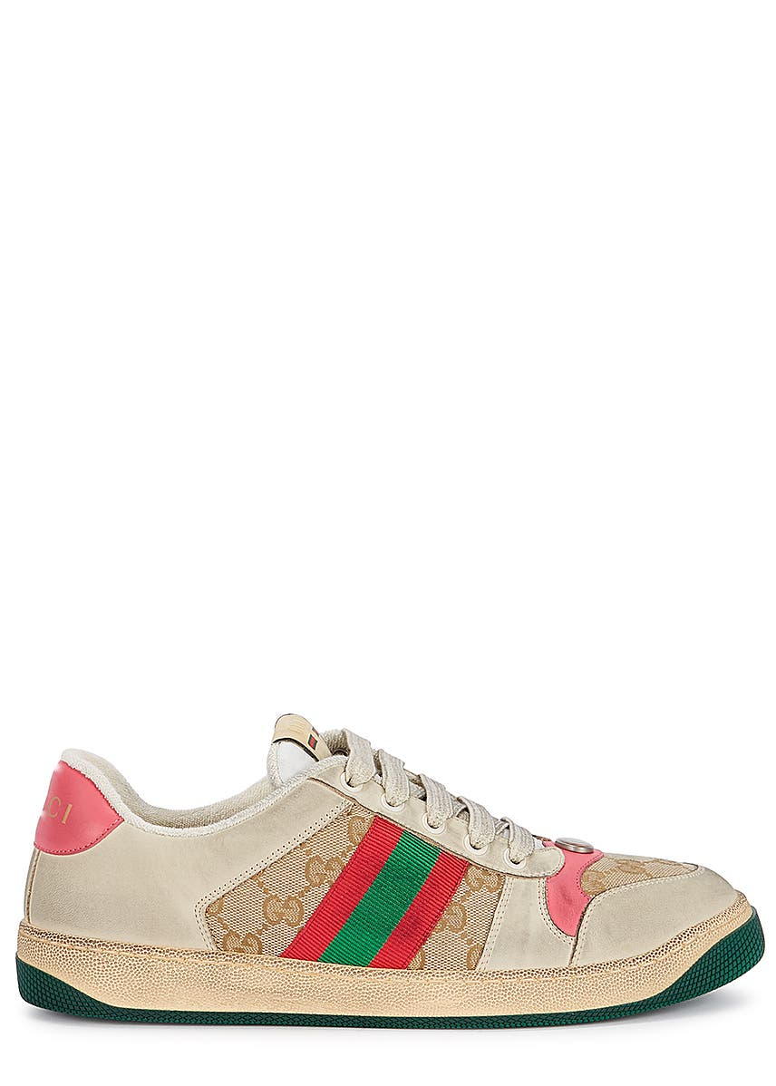 8115be472 Screener distressed leather sneakers Screener distressed leather sneakers.  New Season. Gucci. Screener distressed leather sneakers