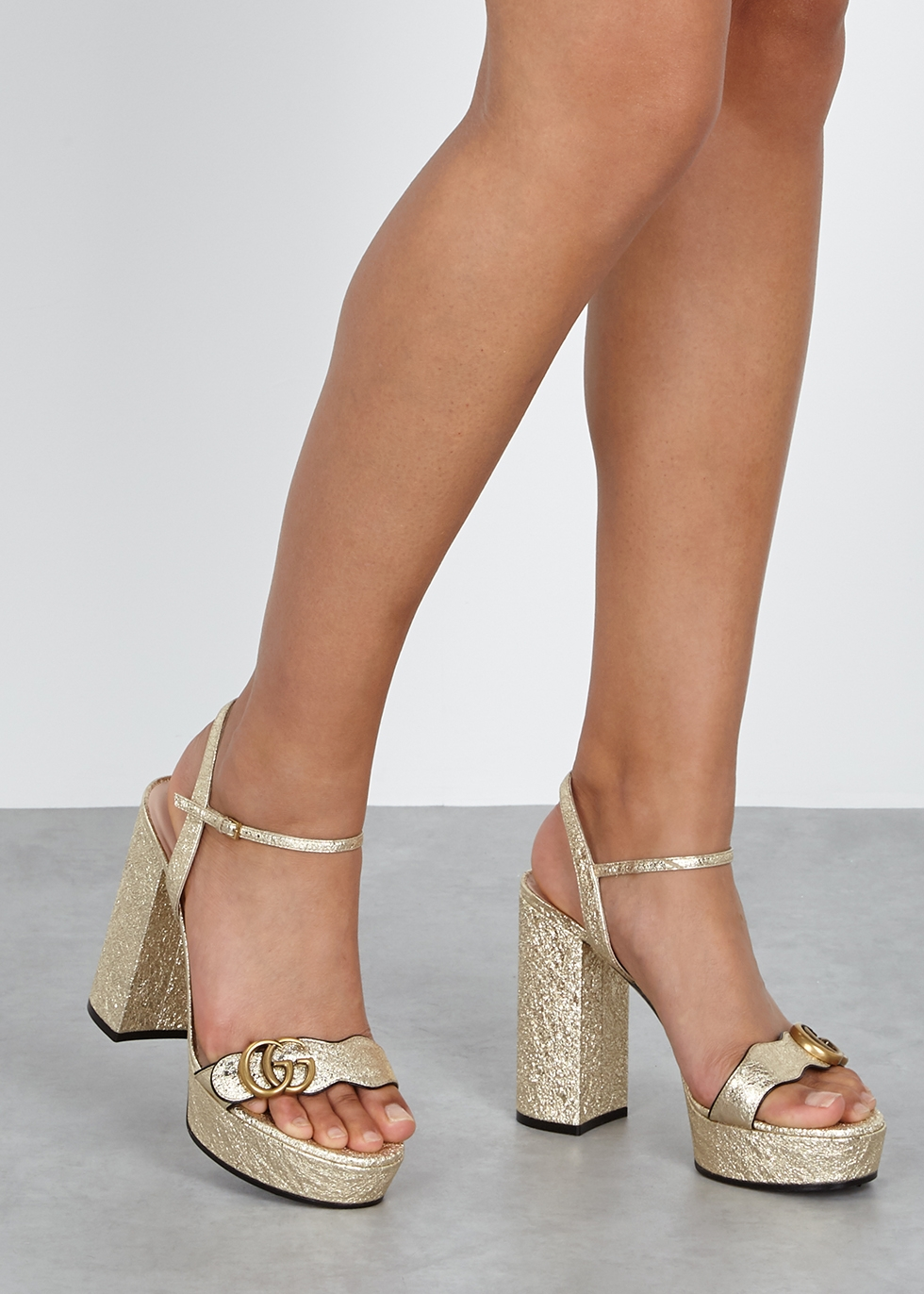gucci marmont open toe sandals