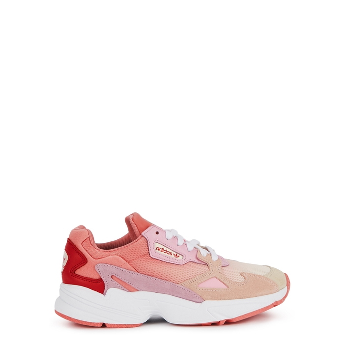 Adidas Originals Falcon Pink Panelled Sneakers Modesens