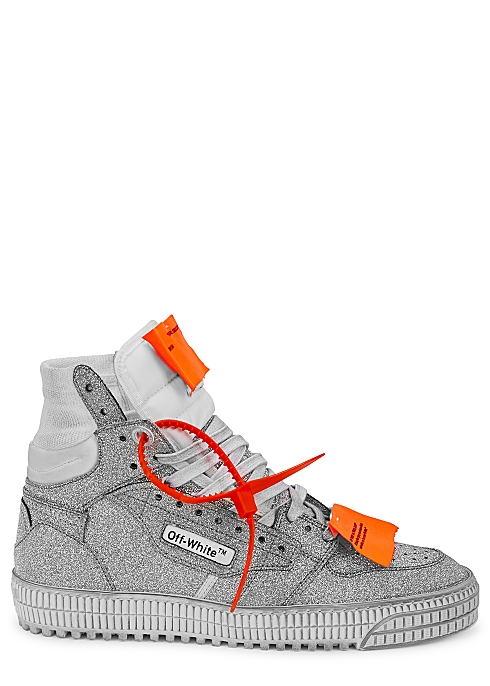 abc19648e0052c Off-White Off-Court 3.0 glittered hi-top sneakers - Harvey Nichols