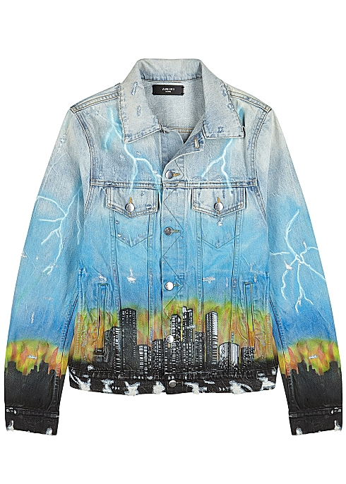 de41f30e Amiri City Dragon printed denim jacket - Harvey Nichols