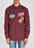 Checked appliquéd cotton shirt - Dsquared2
