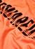 Orange logo-print cotton T-shirt - Dsquared2