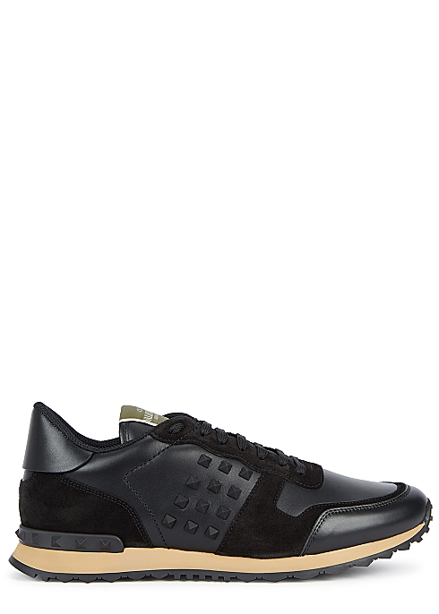 VALENTINO RockRunner black leather sneakers