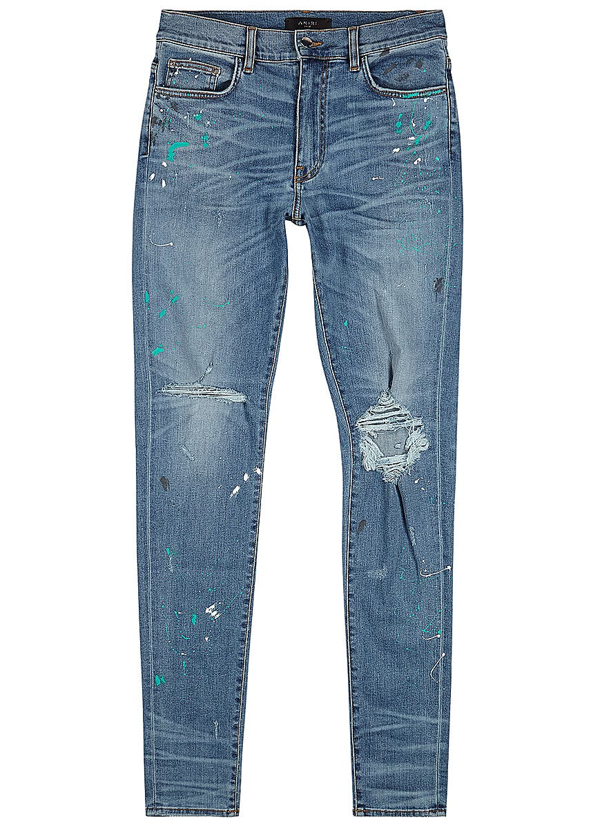 26efee06ace9 Blue distressed skinny jeans Blue distressed skinny jeans. New Season