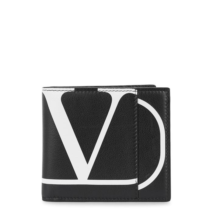 Valentino Pouches Black logo-print leather wallet