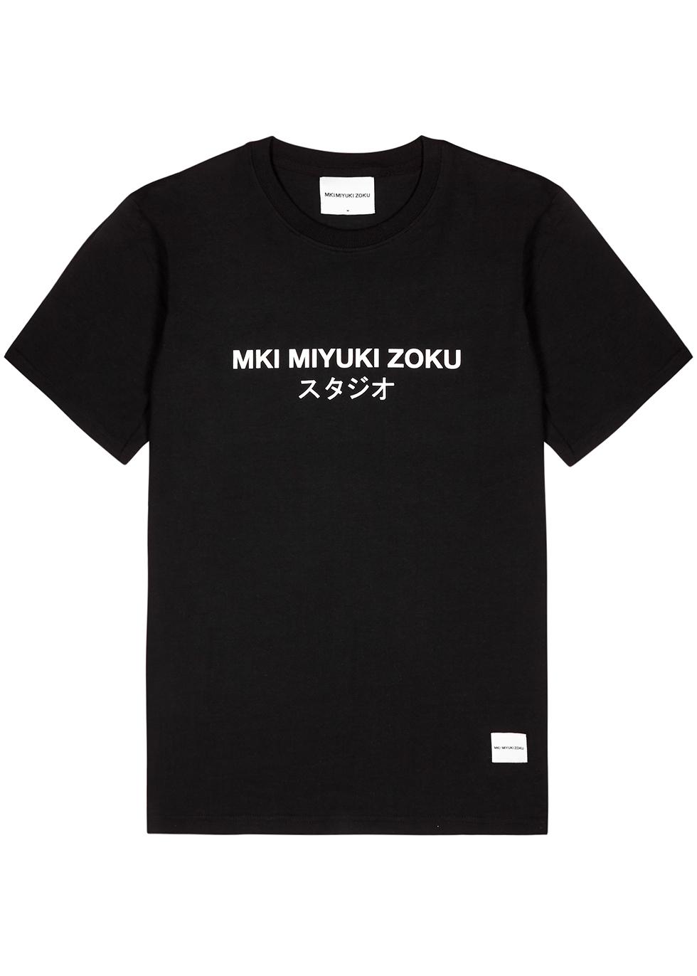 MKI MIYUKI ZOKU | Mki Miyuki Zoku Black Cotton T-Shirt | Goxip