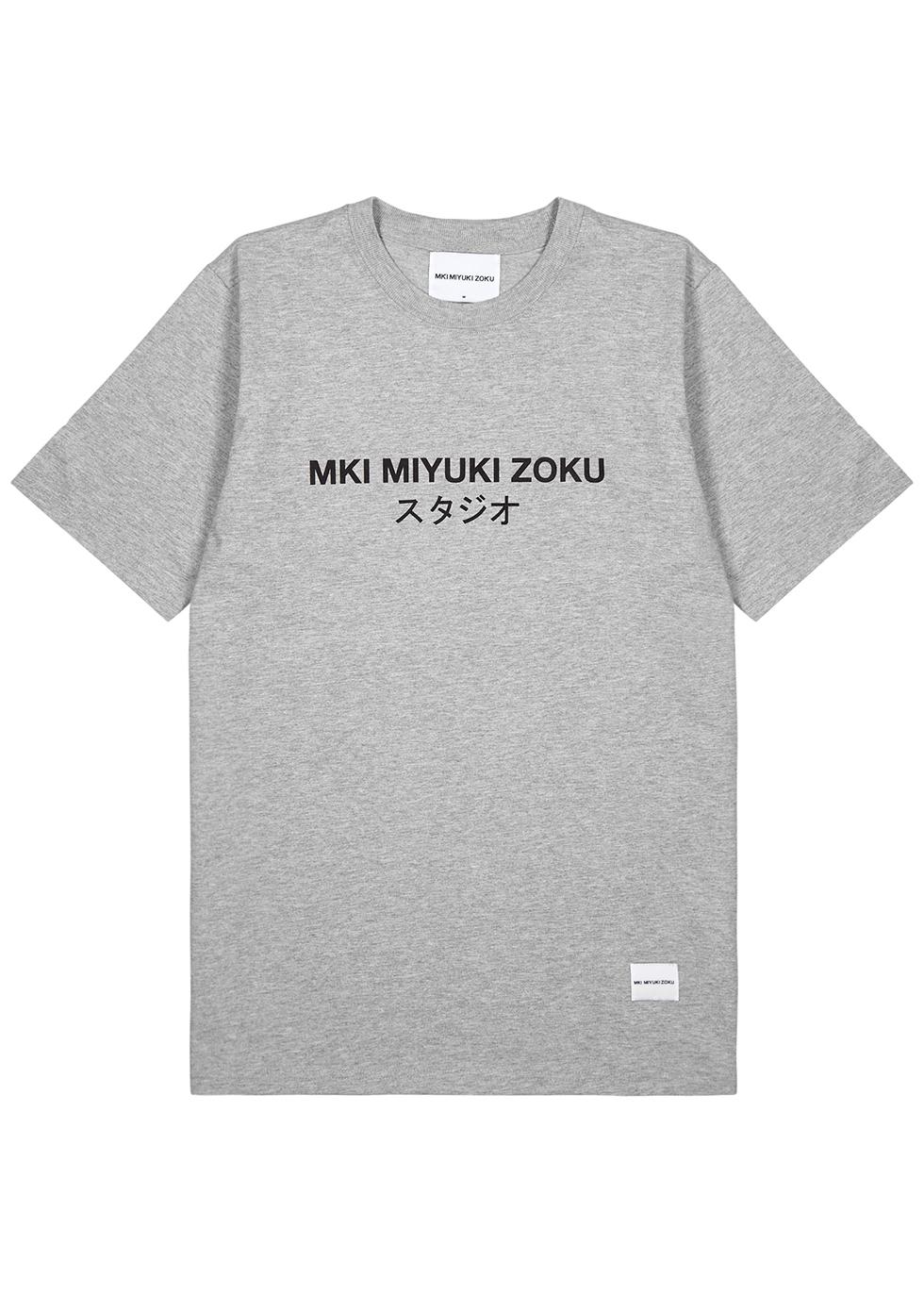 MKI MIYUKI ZOKU | Mki Miyuki Zoku Grey Cotton T-Shirt | Goxip