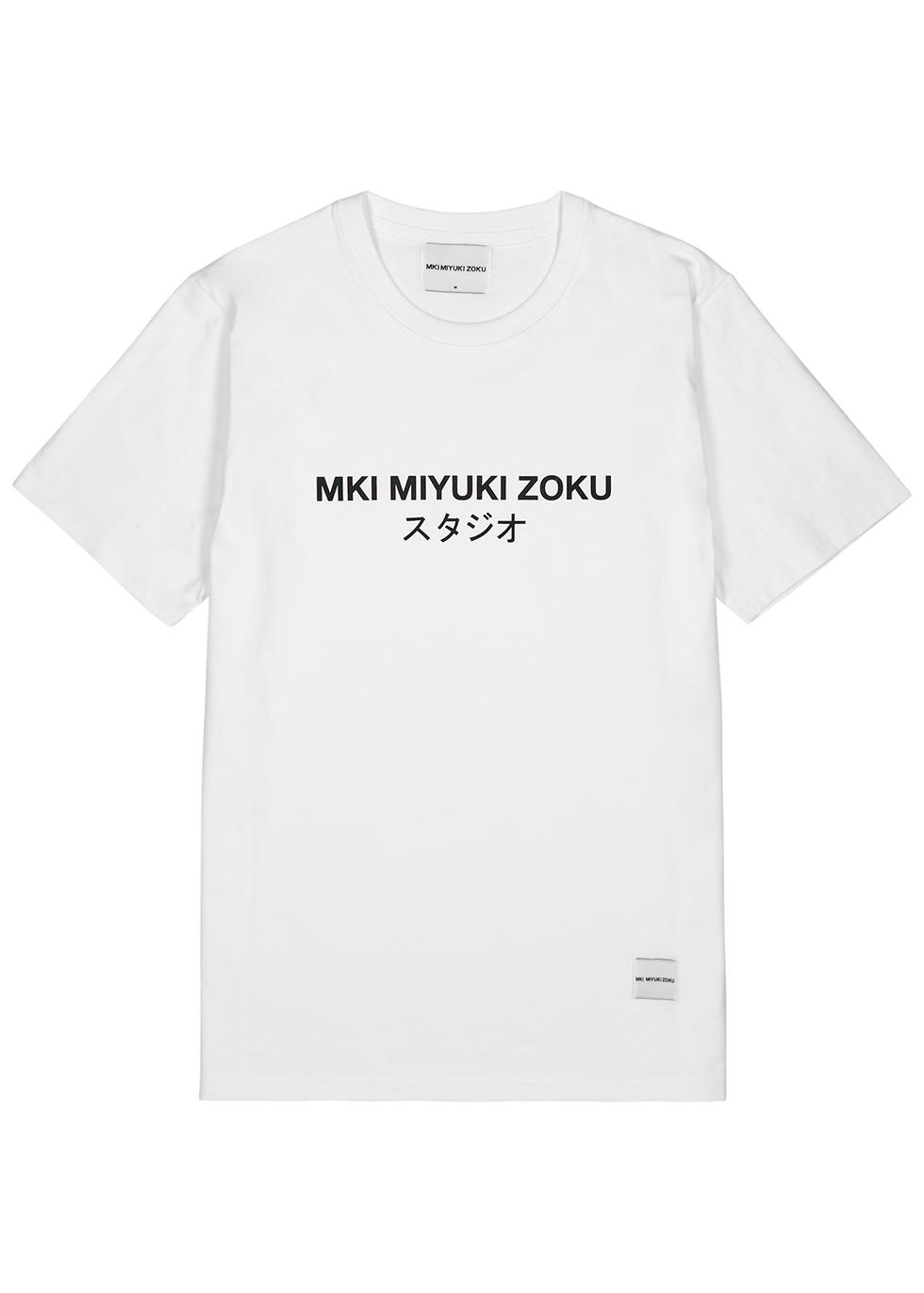 MKI MIYUKI ZOKU | Mki Miyuki Zoku White Cotton T-Shirt | Goxip
