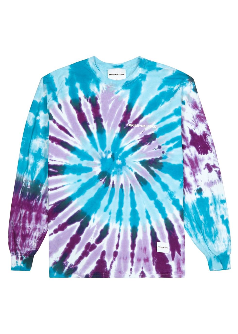 MKI MIYUKI ZOKU | Mki Miyuki Zoku Blue Tie Dye Cotton T-Shirt | Goxip