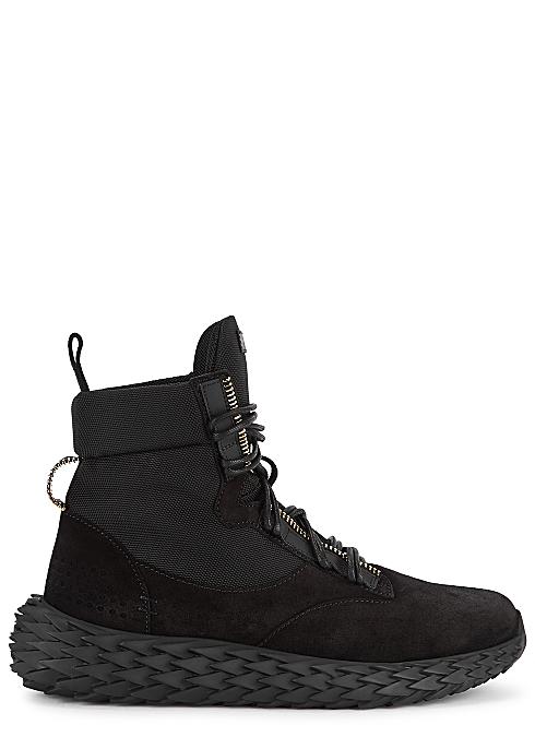 e1a16dff15835 Giuseppe Zanotti Urchin black canvas hi-top sneakers - Harvey Nichols